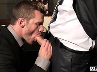 The Horny Publisher - The Gay Office - Landon Conrad & Tommy Defendi