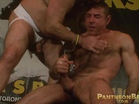 Nick Moretti sucking off hairy cock