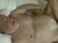 Chubby daddy Luciano fucks younger lad Cameron Kincade