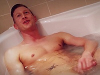 Kingsley Rippon strokes dick in a bath