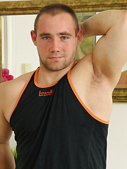 Power-Pack Muscle Hunk Jacking Off and Showing Off - New Guy: Anthony James