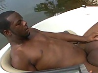 Black ass rimmed and fucked outdoors