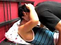 Dominating Lexx rides submissive young twink.