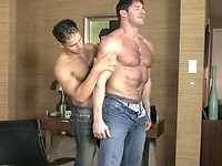 Jorge Fusco gets a wild ass fucking from the huge hung bodybuilder Jeremy Walker.
