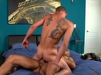 Austin slams Jarvis hard in his tight manhole until they cum