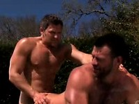 Muscular Man Takes Advantage Of This Guy's Anus In The Park