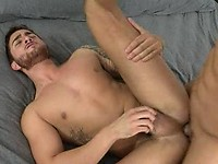 Chris Tyler and Bryce Star are relaxing in bed