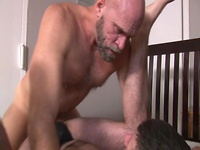 Hairy muscle men Jake and Jeremy fuck