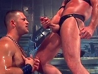 Muscled hunks Josh West and Paul Wagner in a Scuff 4 scene